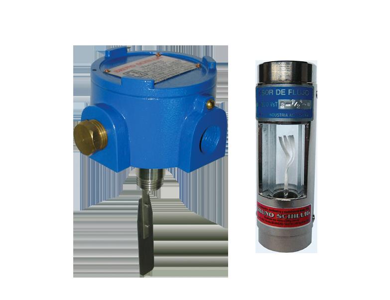 Detector y visor de flujo